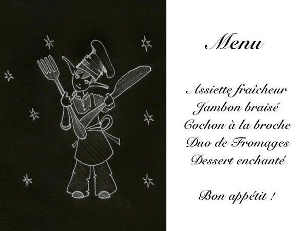 Gut bekannt de menu de mariage NQ69